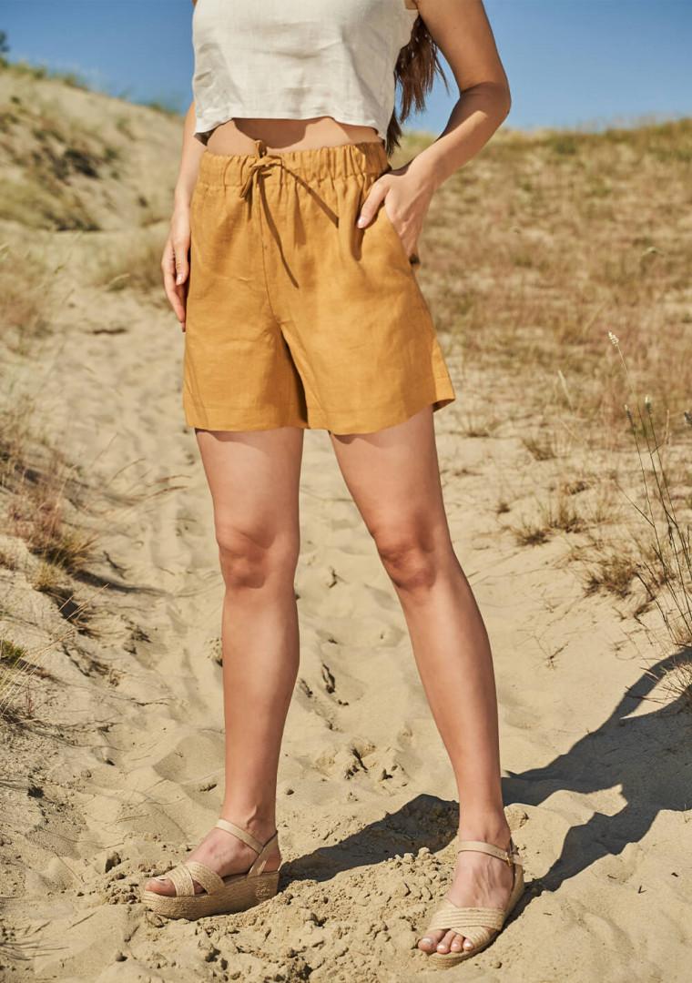 Linen drawstring shorts Kaia 1