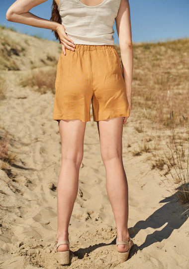 Linen drawstring shorts Kaia