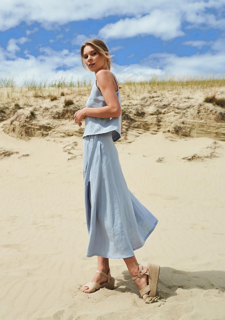 Linen wrap skirt Frida 4