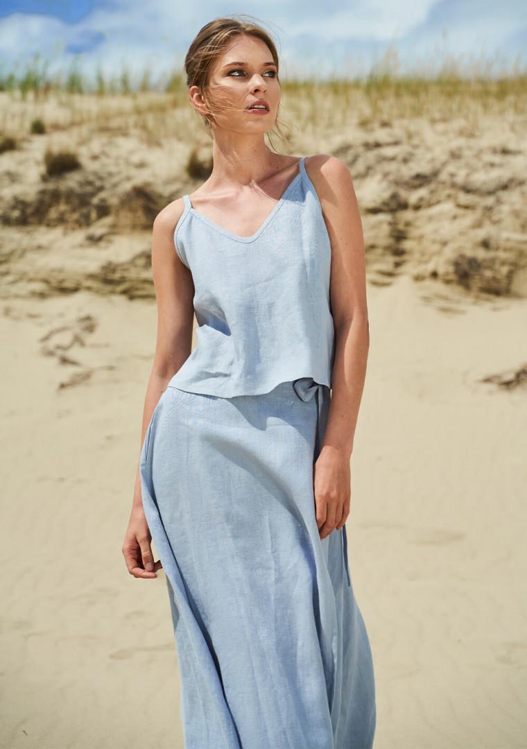 Linen wrap skirt Frida 5