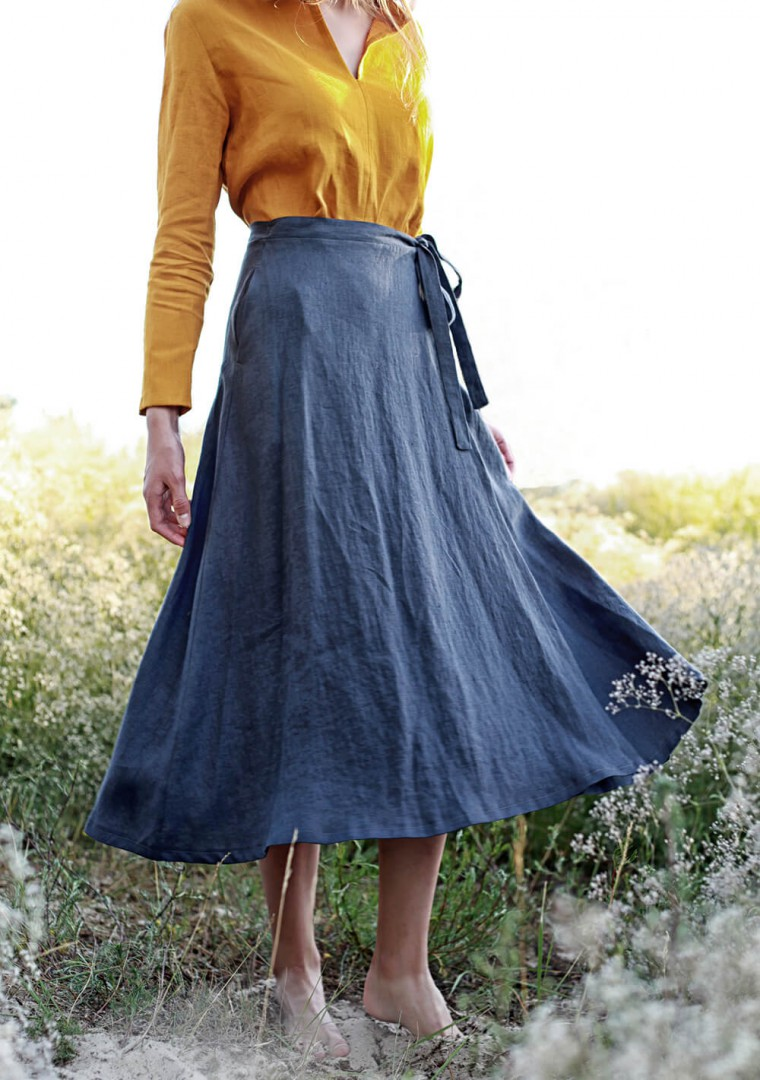 Linen wrap skirt Frida 5