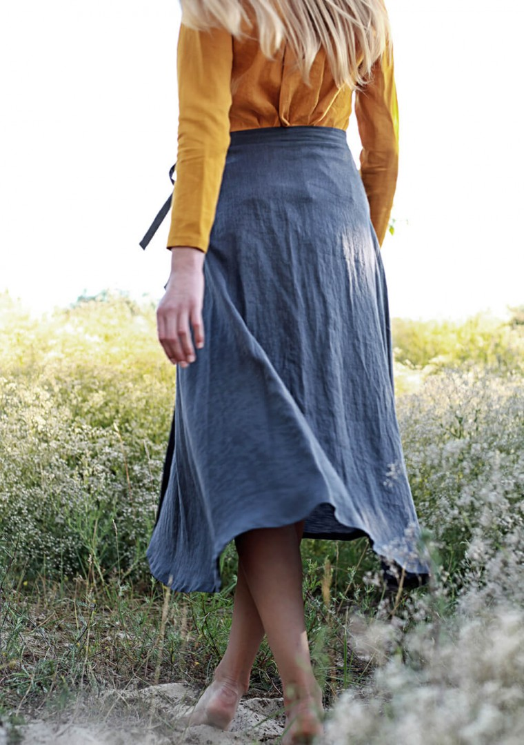 Linen wrap skirt Frida 7