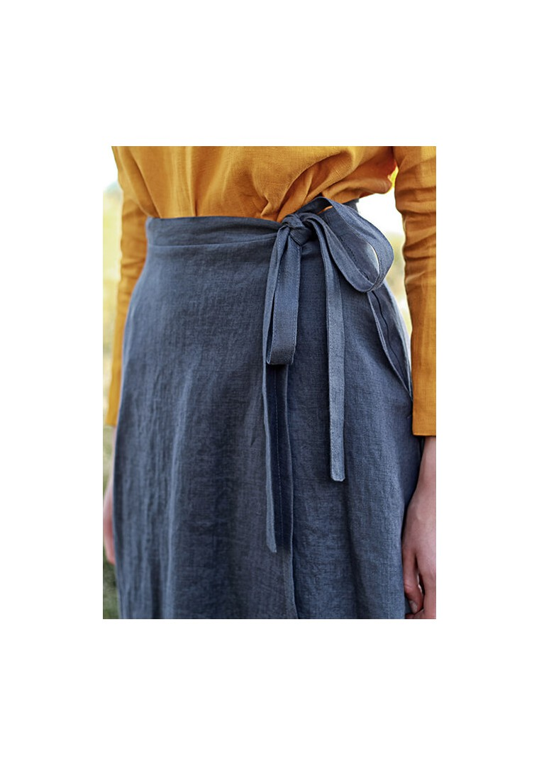 Linen wrap skirt Frida 6