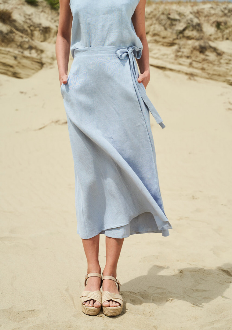 Linen wrap skirt Frida 4