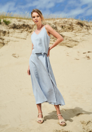 Linen wrap skirt Frida