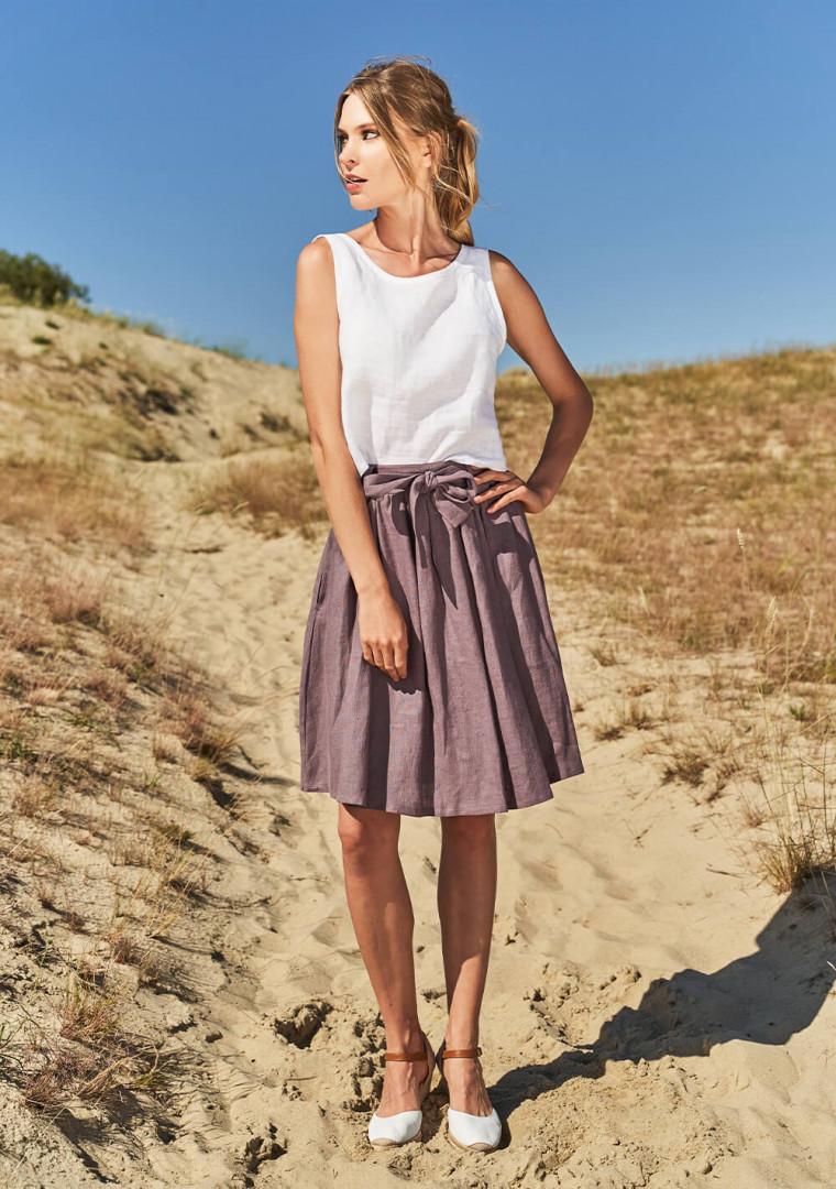 Linen midi skirt Sage 1