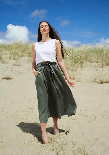Linen skirt Sage maxi