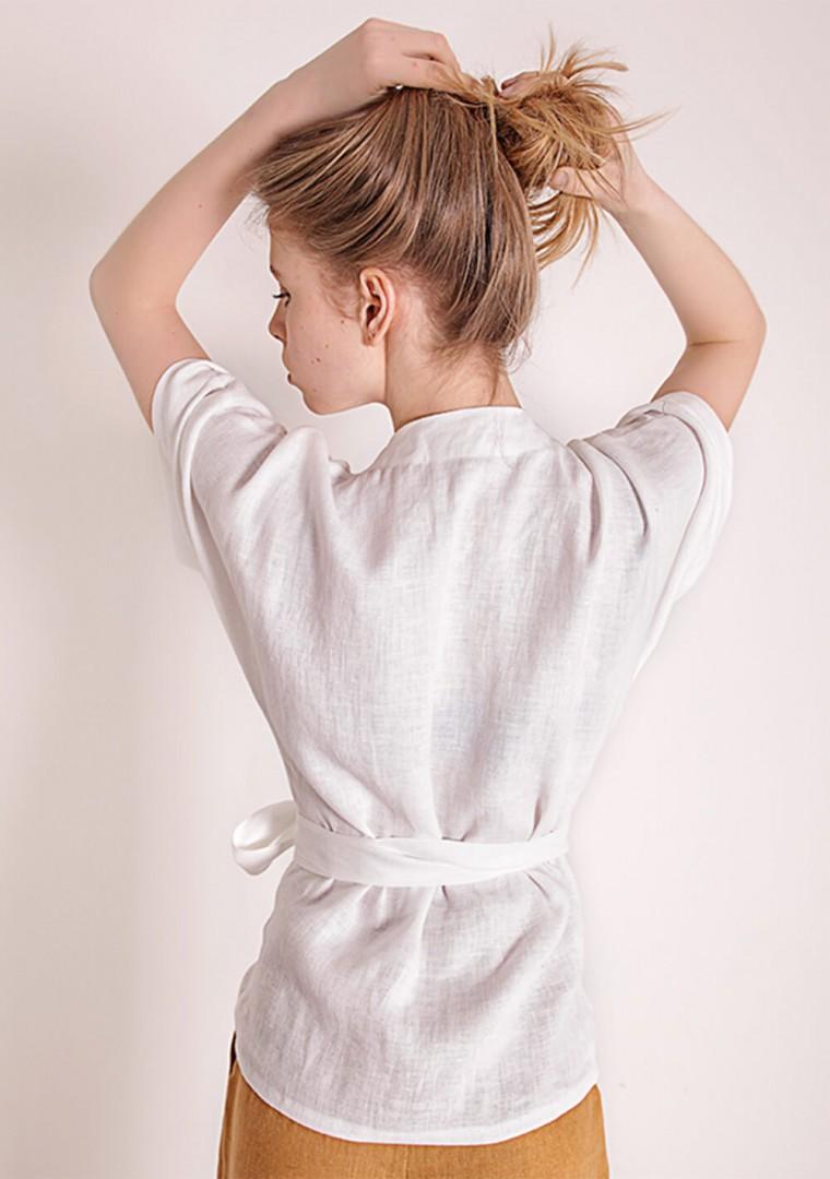 Linen wrap top Denise 4