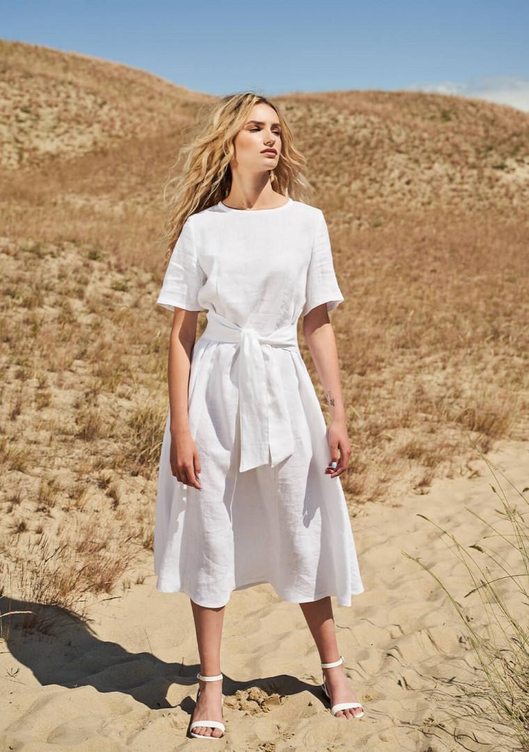 Linen short sleeve dress Paloma 1