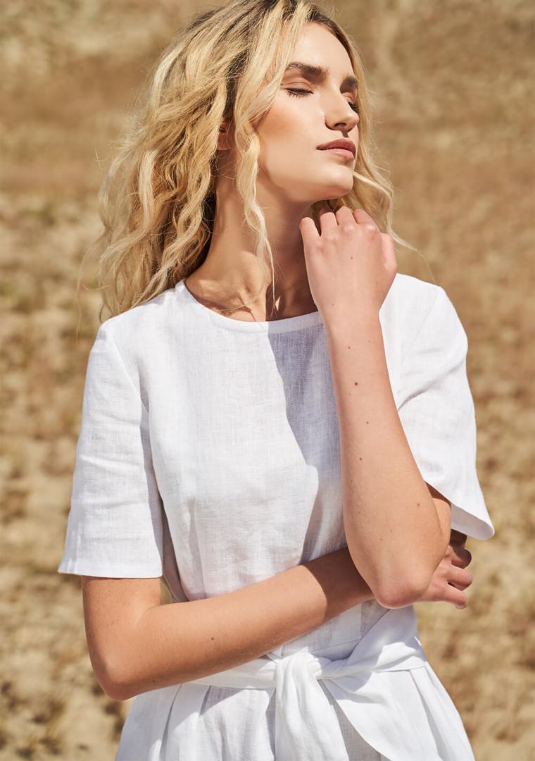 Linen short sleeve dress Paloma 5