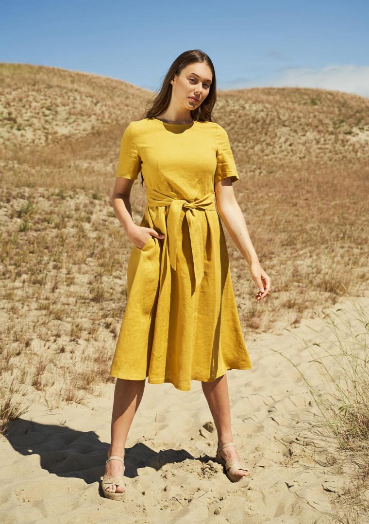 Linen short sleeve dress Paloma 7