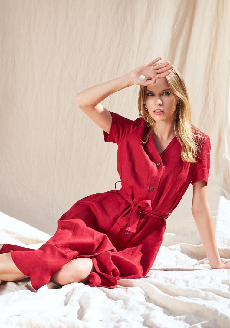 Button down linen dress Sanna 2