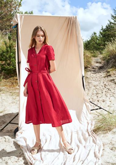 Button down linen dress Sanna