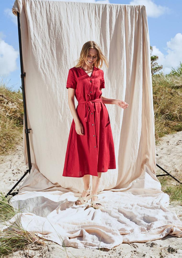 Button down linen dress Sanna 4
