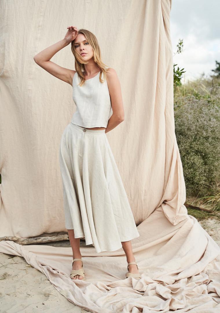 Linen circle skirt Wavy 5
