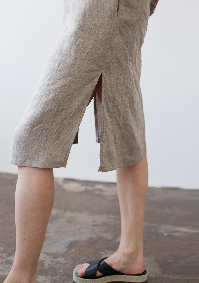 Linen tunic dress Georgia in natural 7