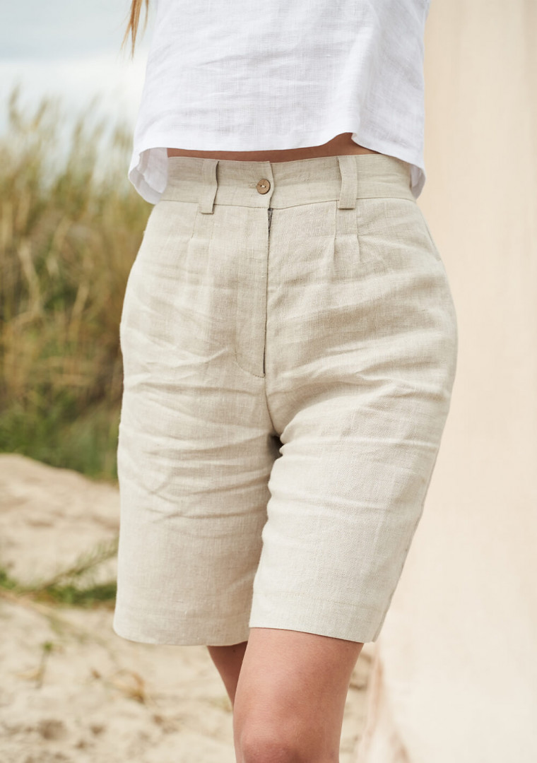 Linen bermuda shorts Gemma 2