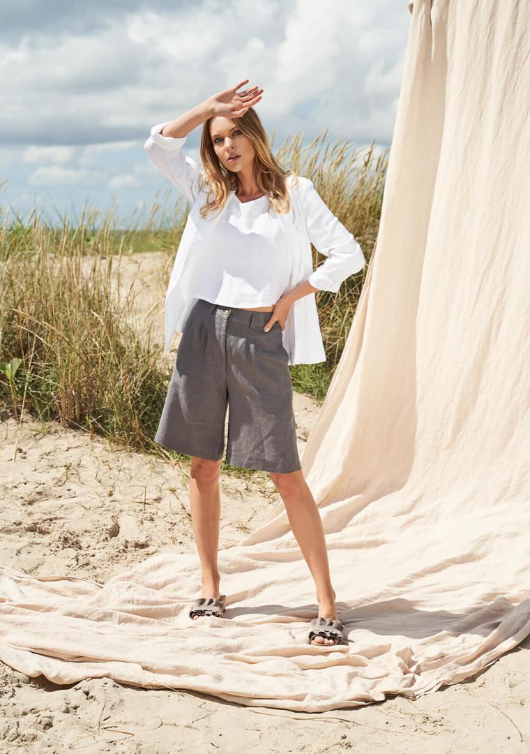 Linen bermuda shorts Gemma 4