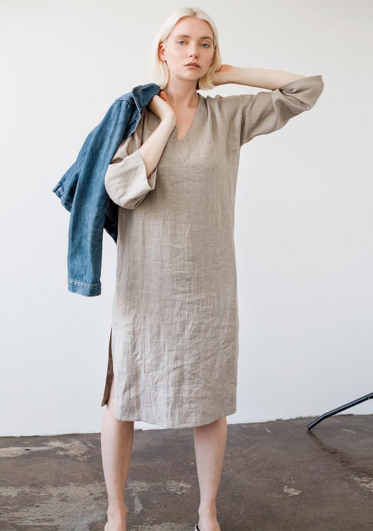 Linen tunic dress Georgia in natural 5