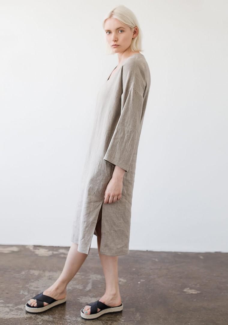 Linen tunic dress Georgia in natural 6