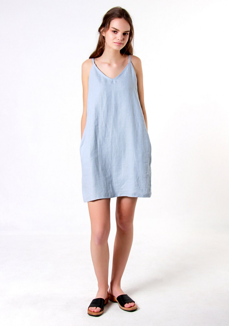 Linen cami dress Gia 1