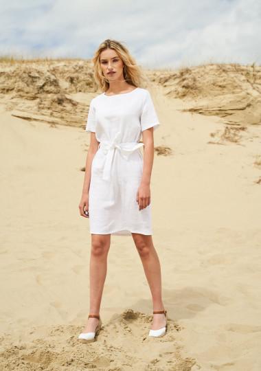 Linen dress with belt Nora