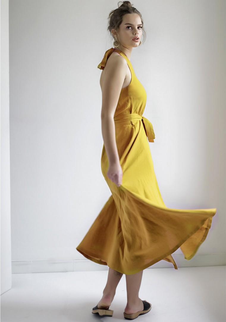 Maxi linen halter dress Josephine 2