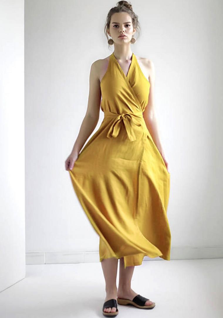 Maxi linen halter dress Josephine 3