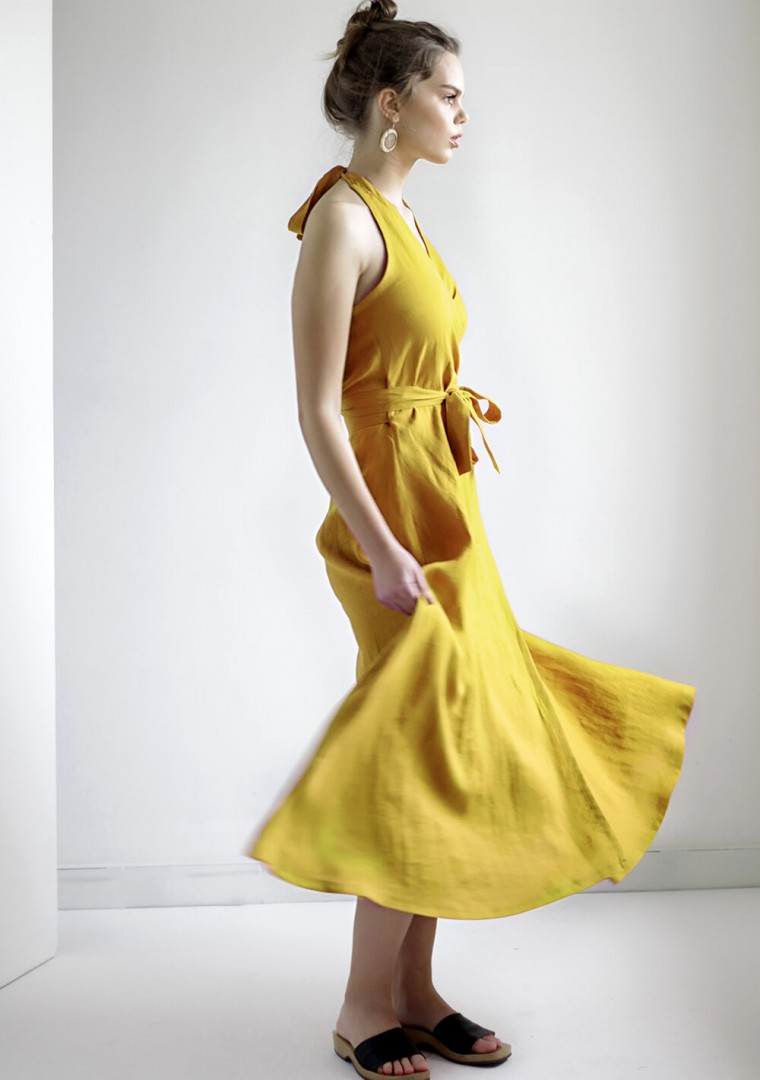Maxi linen halter dress Josephine 6