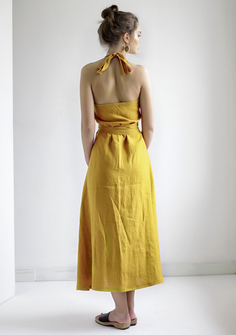 Maxi linen halter dress Josephine 5