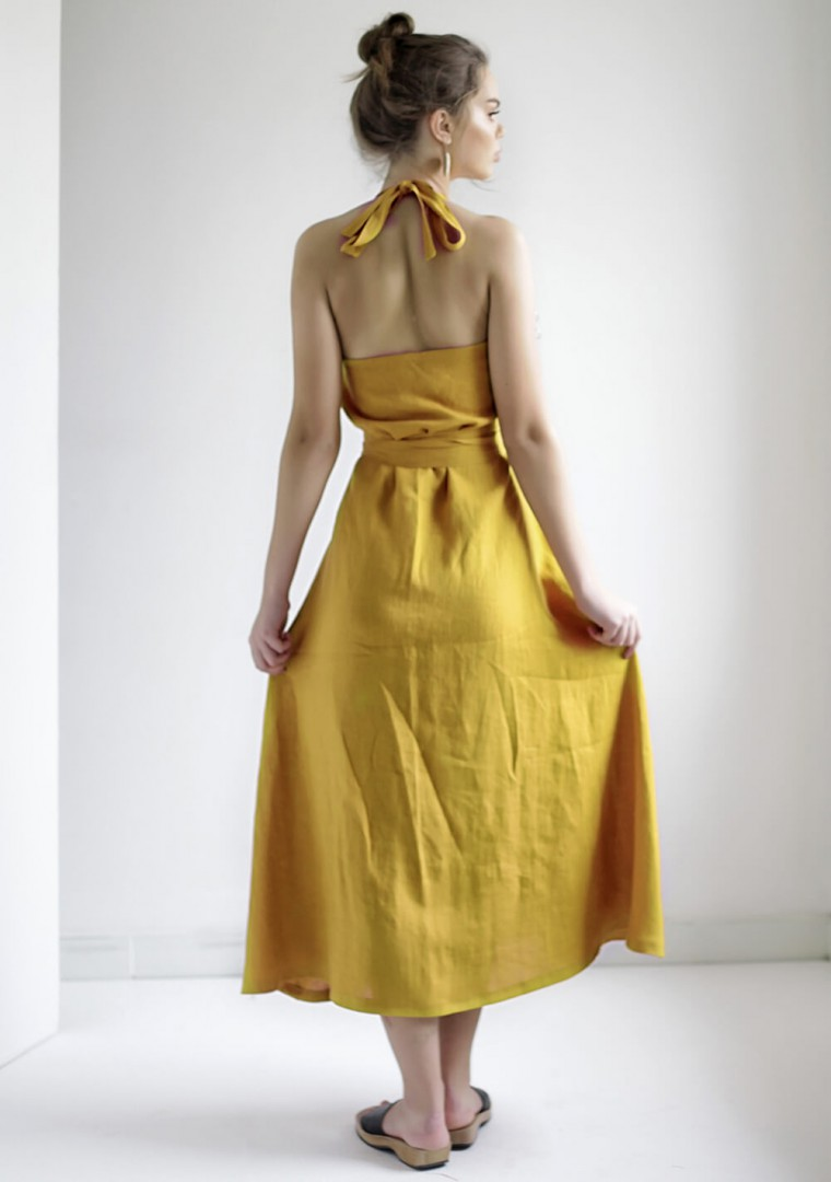 Maxi linen halter dress Josephine 7
