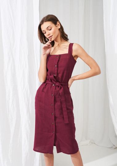 Linen button down dress Ava