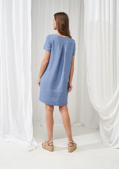 Linen T-shirt dress Corinna