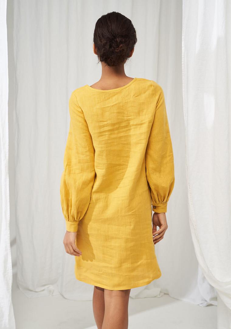 Linen baloon sleeve dress Cecilia 4