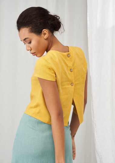 Linen crop top Amelia