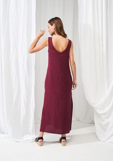 Linen maxi dress Astrid