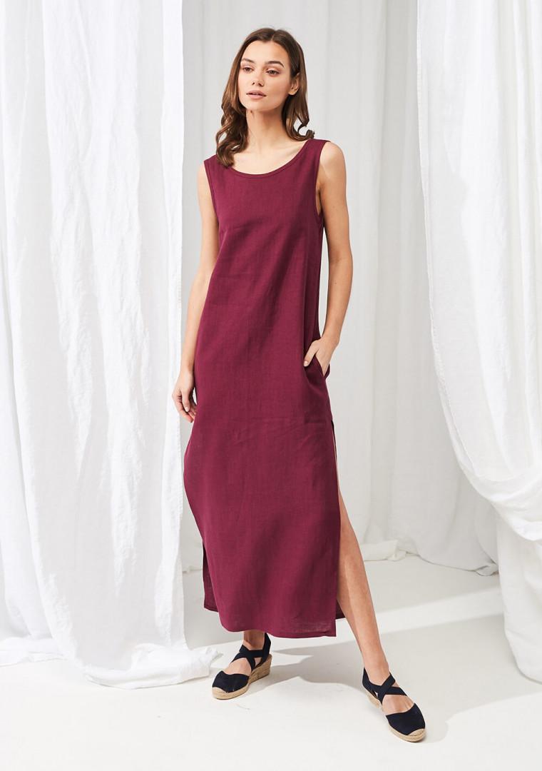 Linen maxi dress Astrid 3
