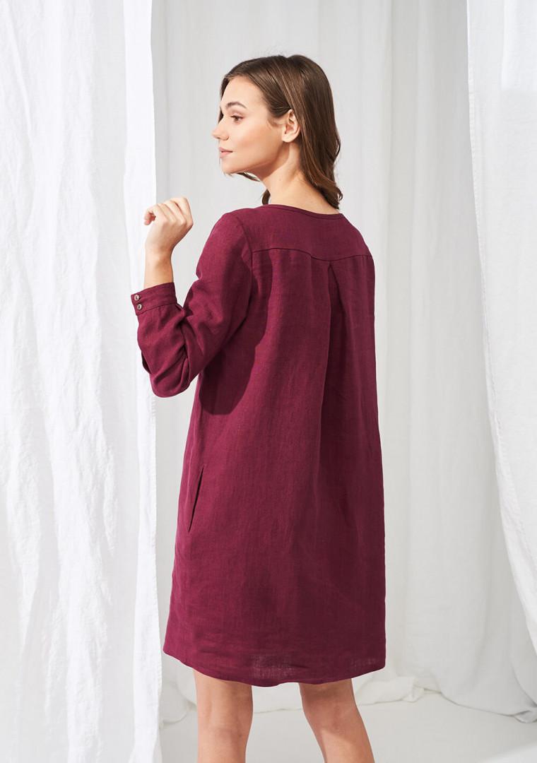 Linen mini shirt dress Daisy 2