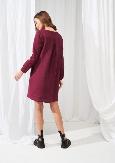 Linen mini shirt dress Daisy