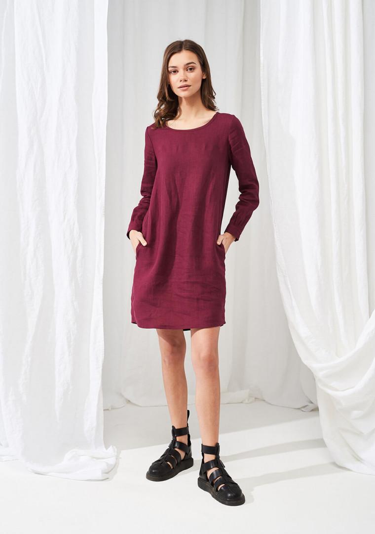 Linen mini shirt dress Daisy 4