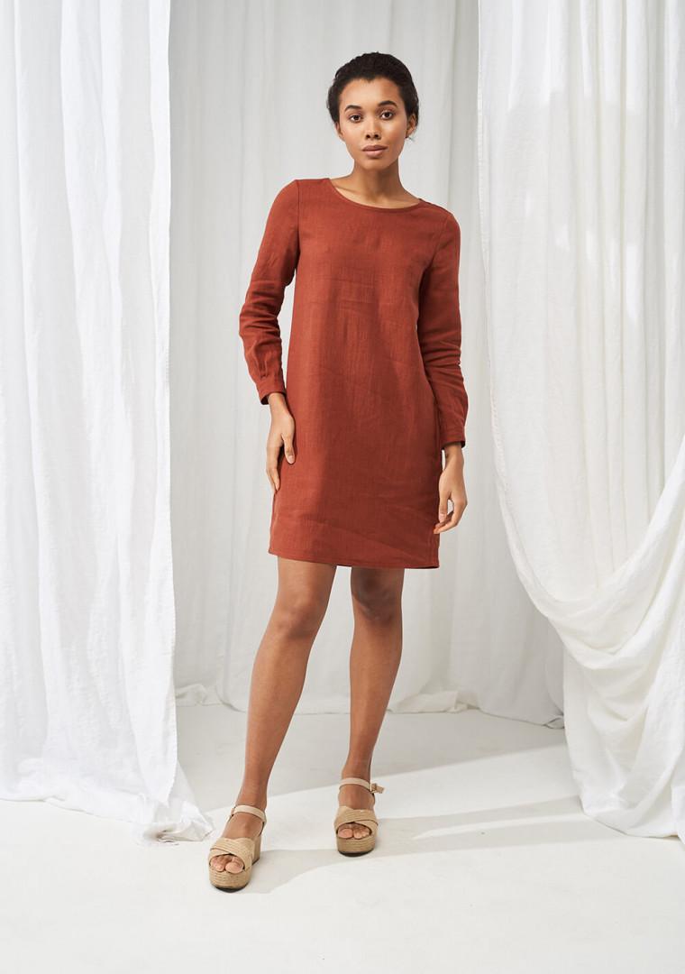 Linen mini shirt dress Daisy 5