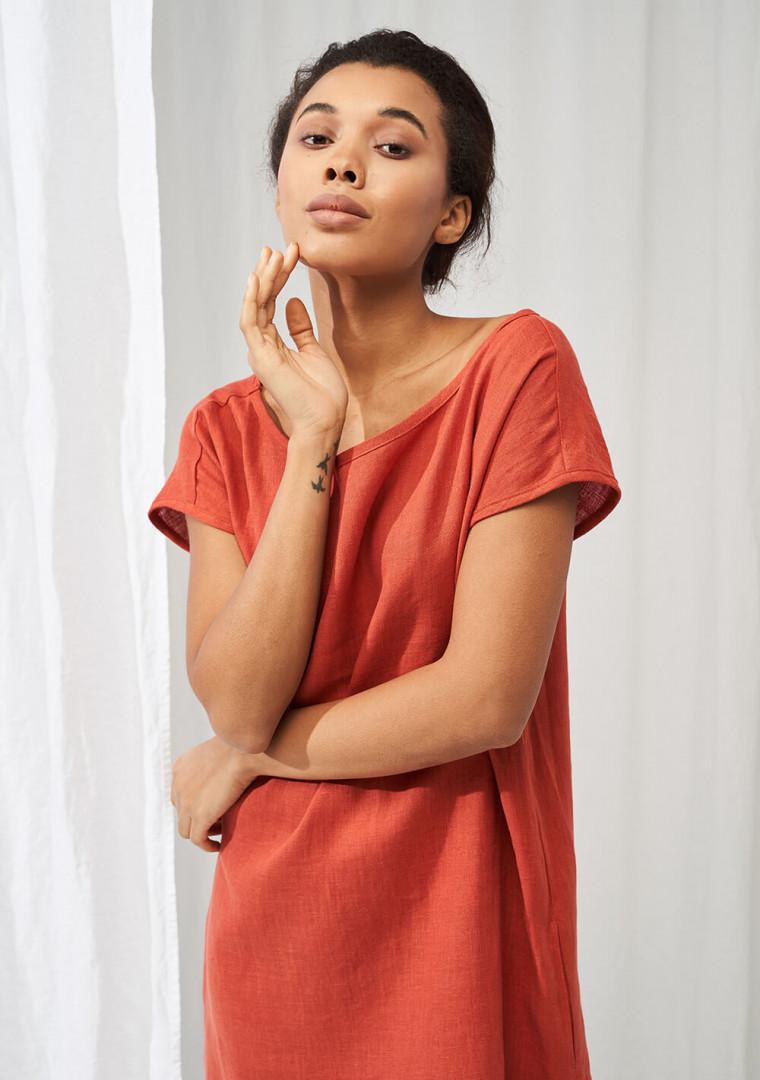 Simple linen tunic dress Teresa 2