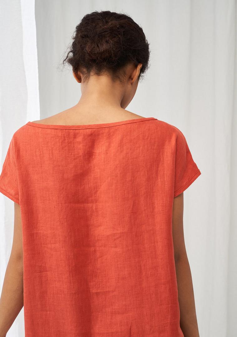 Simple linen tunic dress Teresa 4