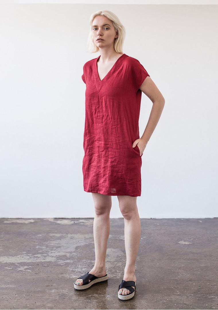 Mini linen tunic dress Kimberly 5