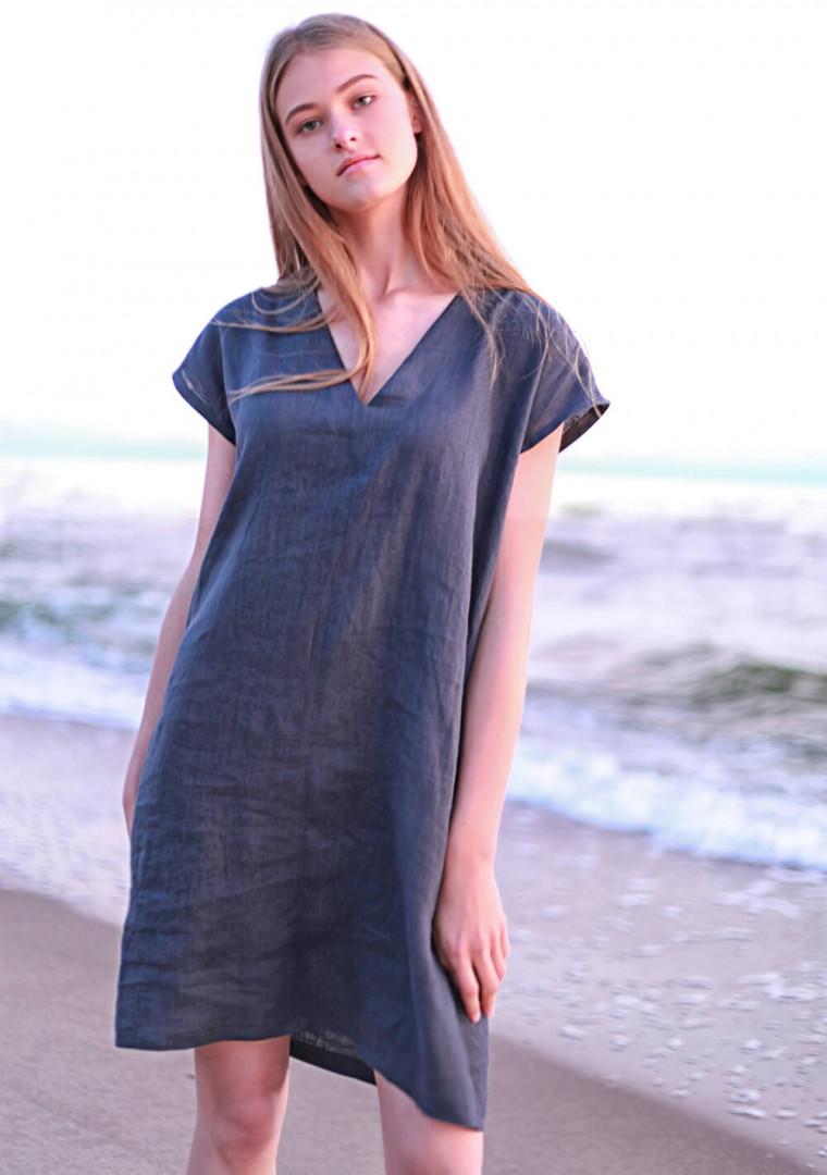 Mini linen tunic dress Kimberly 3