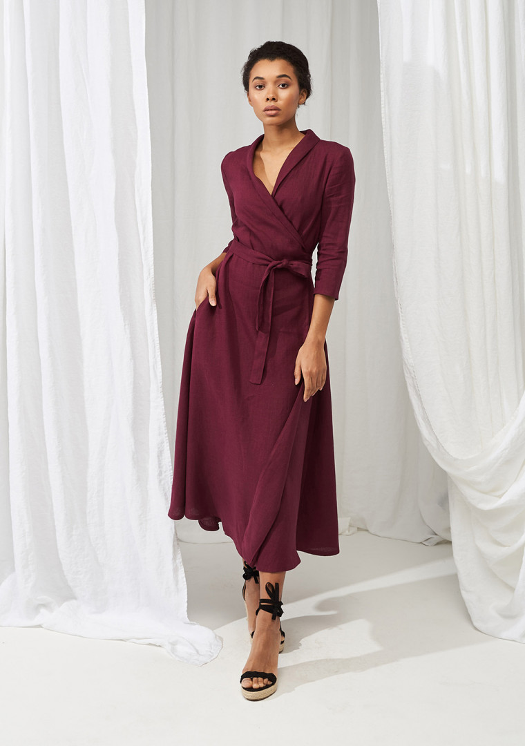 Linen wrap dress Marlena 8