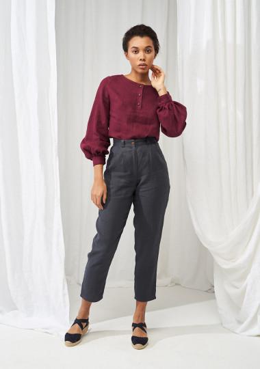 Long sleeve linen blouse Giselle