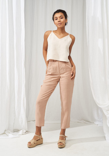 Linen crop top Ivy