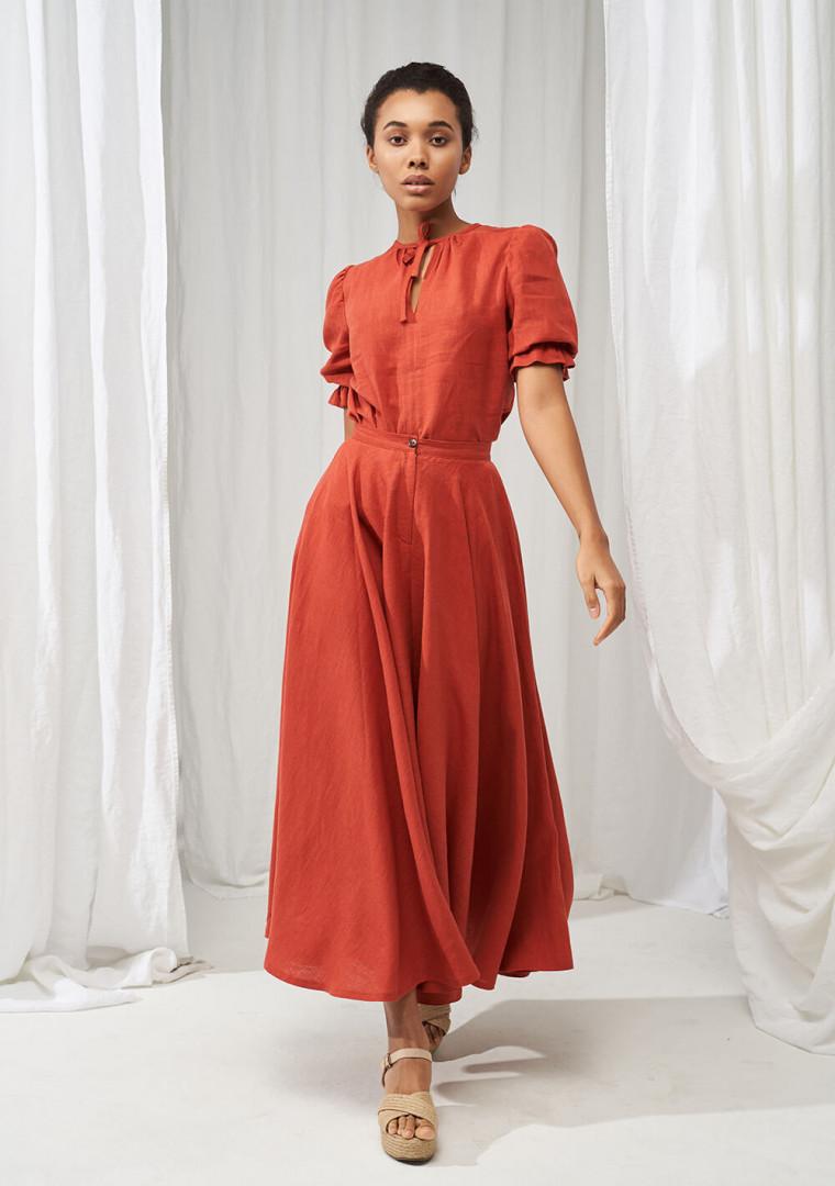 Linen puff sleeve top Lucia 2