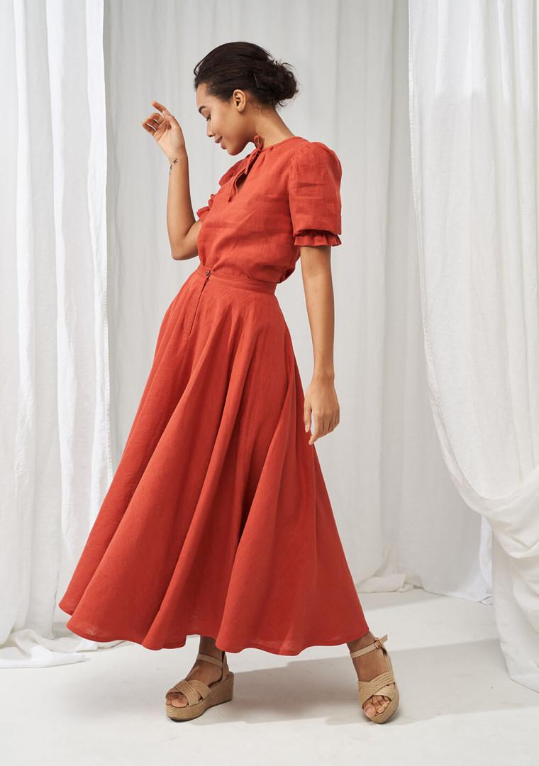 Linen puff sleeve top Lucia 4